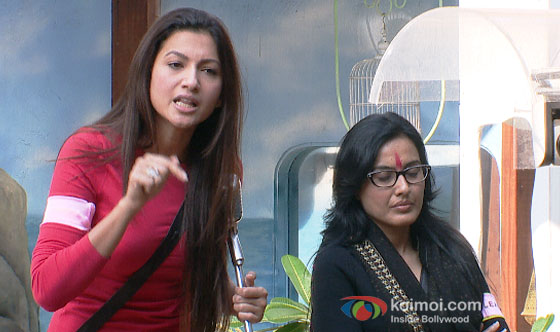 Gauhar Khan and Kamya Panjabi in Bigg Boss 7