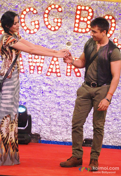 Kamya Panjabi and Ajaz Khan in Bigg Boss 7
