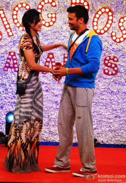 Kamya Panjabi and Sangram Singh in Bigg Boss 7