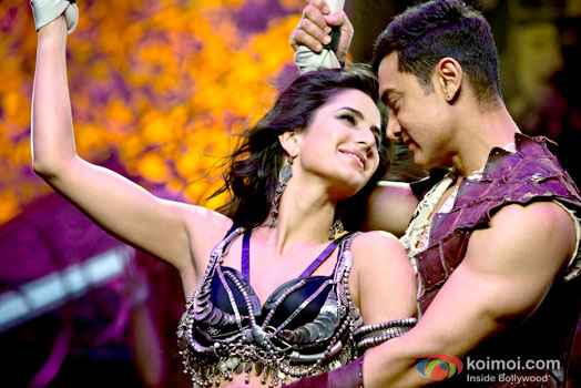 Katrina Kaif and Aamir Khan in a still from Dhoom:3