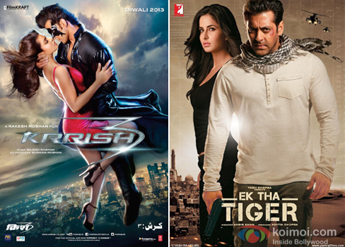 Krrish 3 and Ek Tha Tiger Movie Poster