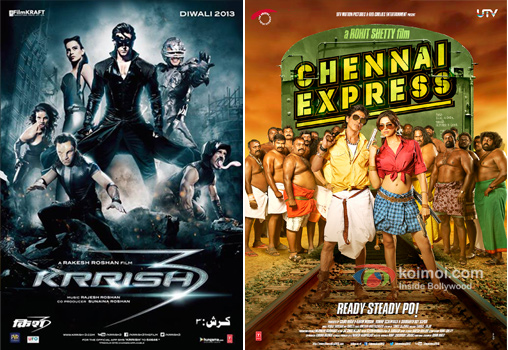 Krrish 3 and Chennai Express movie poster