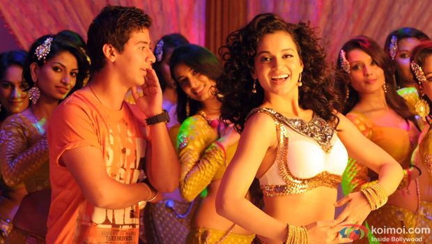 Paras Arora and Kangana Ranaut in a still from Rajjo(Paras Arora and Kangana Ranaut in Rajjo movie review)