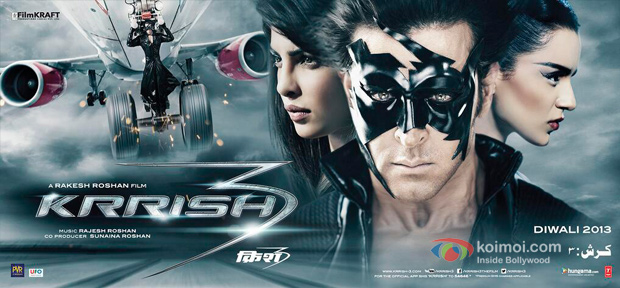 Priyanka Chopra, Hrithik Roshan and Kangana Ranaut in Krrish 3
