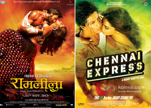 Ramleela and Chennai Express Movie Poster