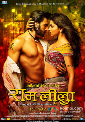 Ranveer Singh and Deepika Padukone in a Ramleela Movie Review (Ranveer Singh and Deepika Padukone in a Ramleela Movie Poster)