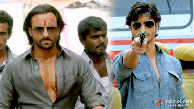 Saif Ali Khan and Vidyut Jamwal in a still from Bullett Raja