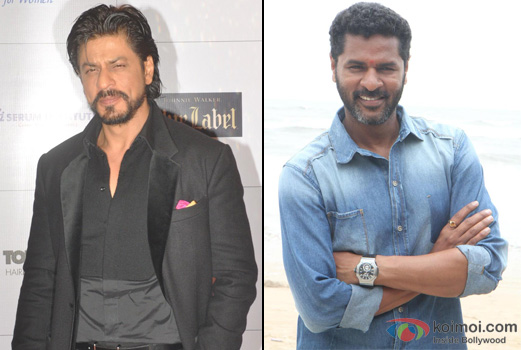 Shah Rukh Khan and Prabhu Deva at an event