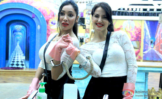 Sofia Hayat and Elli Avram in Bigg Boss 7 pic 1