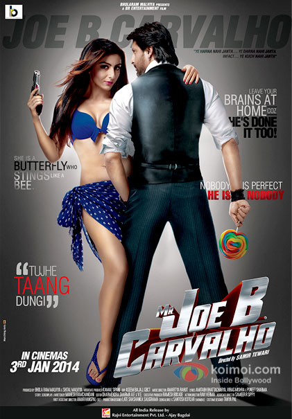 Soha Ali Khan and Arshad Warsi in a Mr Joe B. Carvalho movie poster