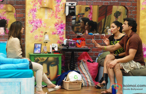 Tanisha Mukherjee, Sofia Hayat and Armaan Kohli in Bigg Boss 7
