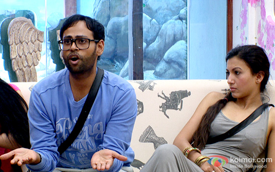 VJ Andy and Gauhar Khan in Bigg Boss 7