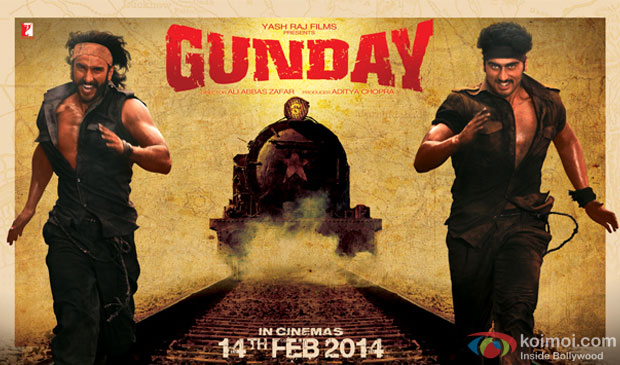 Ranveer Singh and Arjun Kapoor in Gunday Movie Poster