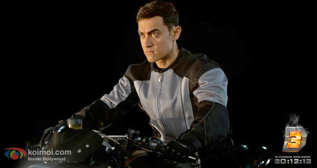 Aamir Khan in a still from Dhooom 3