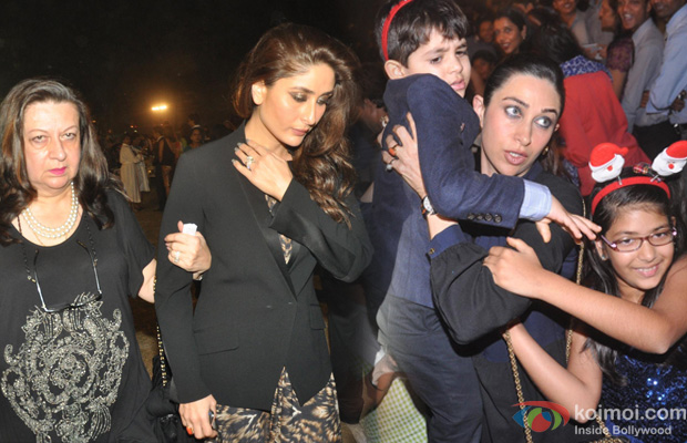 Babita Kapoor and Kareena Kapoor and Karisma Kapoor at an event