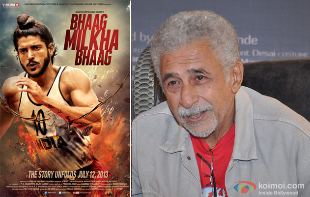 Bhaag Milkha Bhaag Movie Poster and Naseeruddin Shah at an event