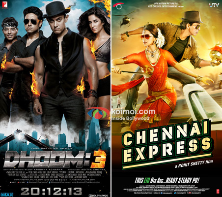Dhoom 3 and Chennai Express Movie Poster