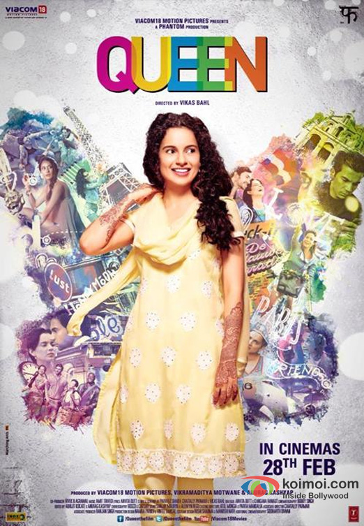 Kangana Ranaut in a Queen Movie Poster