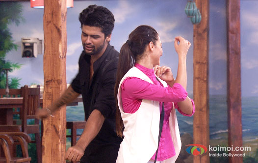 Kushal Tandon and Gauhar Khan in Bigg Boss 7