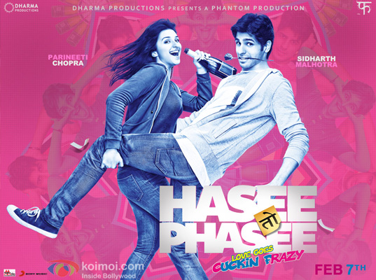 Parineeti Chopra and Sidharth Malhotra in a Hasee Toh Phasee Movie Poster