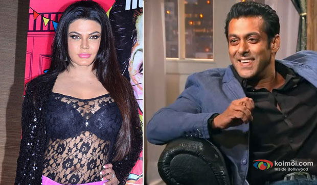 Rakhi Sawant and Salman Khan at an event