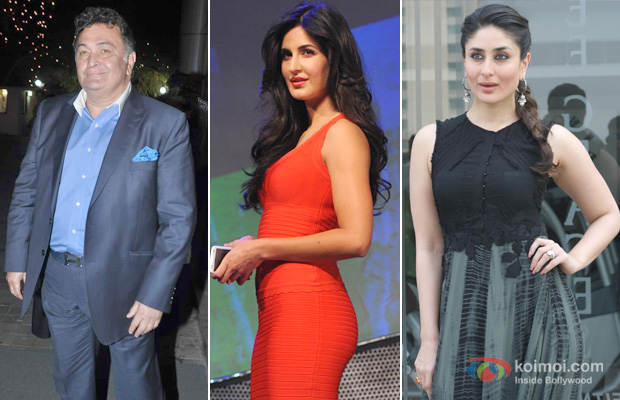 Rishi Kapoor, Katrina Kaif and Kareena Kapoor at an event
