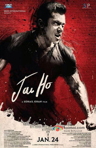 Salman Khan in a Jai Ho Movie Poster