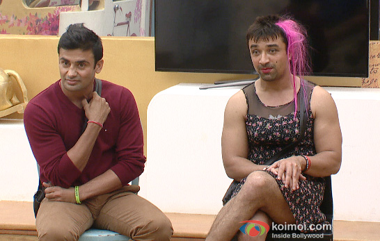 Sangram Singh and Ajaz Khan in Bigg Boss 7