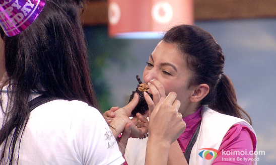 Sofia Hayat and Gauhar Khan in Bigg Boss 7