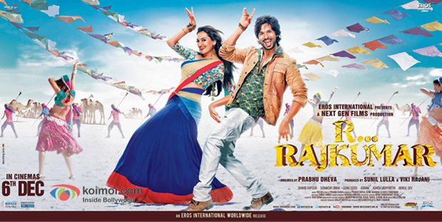 Sonakshi Sinha and Shahid Kapoor in a R… Rajkumar Movie Poster