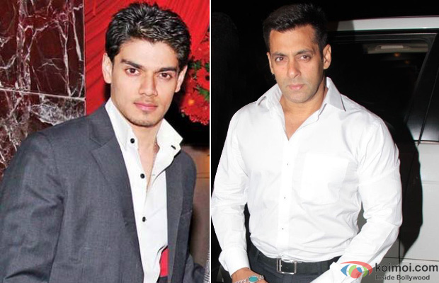 Suraj Pancholi and Salman Khan at an event