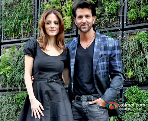 Suzanne Roshan and Hrithik Roshan at an event
