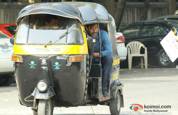 Ajay Devgn  on the sets of Action Jackson