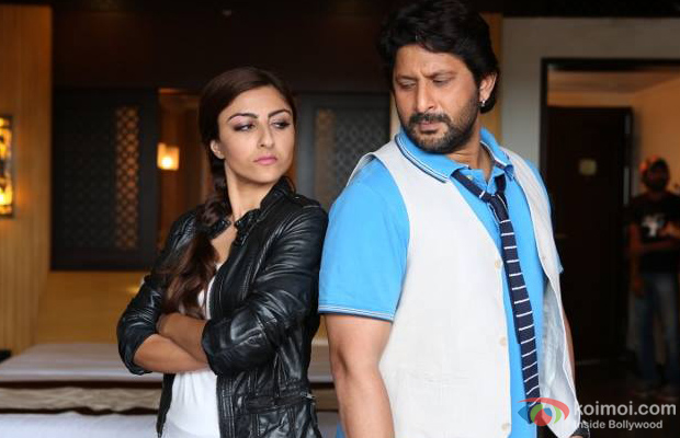 Soha Ali Khan and Arshad Warsi in a still from  Mr Joe B. Carvalho
