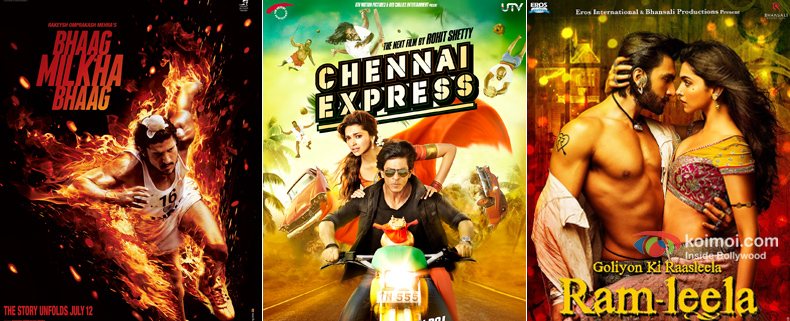 Bhaag Milkha Bhaag, Chennai Express and Ramleela Movie Poster