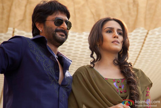 Arshad Warsi and Huma Qureshi in a still from 'Dedh Ishqiya'