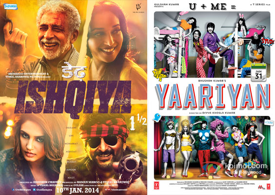 Dedh Ishqiya and Yaariyaan Movie Poster