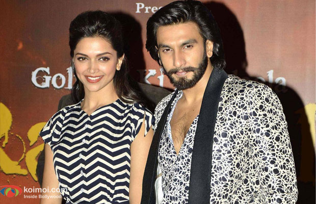 Deepika Padukone and Ranveer Singh at an event