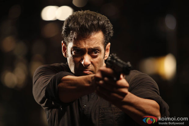 Salman Khan in a still from 'Jai Ho'