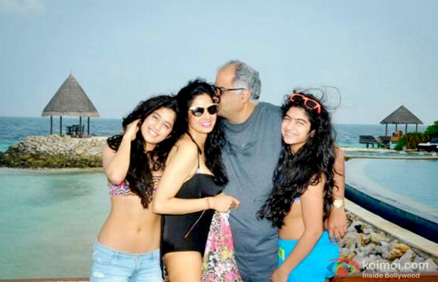 Jhanvi Kapoor, Sridevi and Boney Kapoor