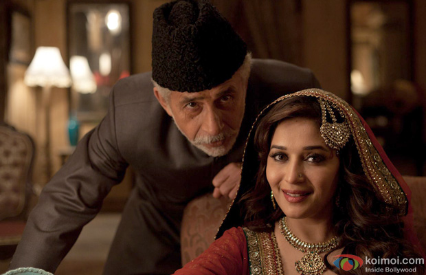 Naseeruddin Shah and Madhuri Dixit in a still from Dedh Ishqiya