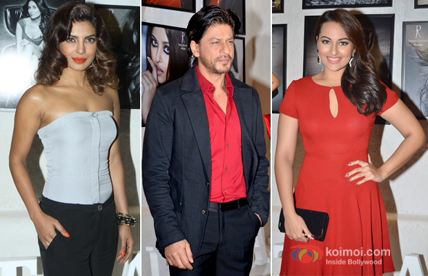 Priyanka Chopra, Shah Rukh Khan and Sonakshi Sinha at an event