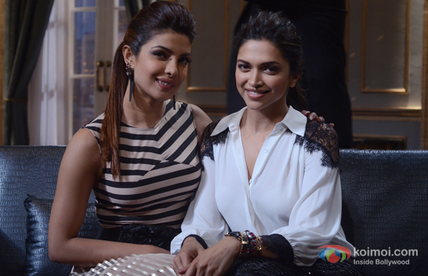 Priyanka Chopra and Deepika Padukone in Koffee With Karan Season 4