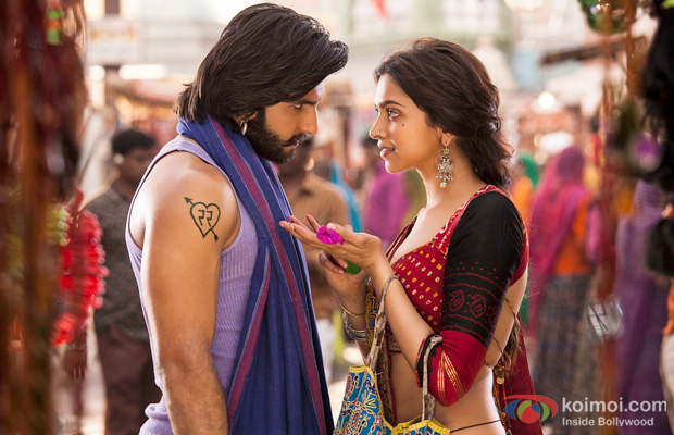 Ranveer Singh and Deepika Padukone in a still from Ramleela