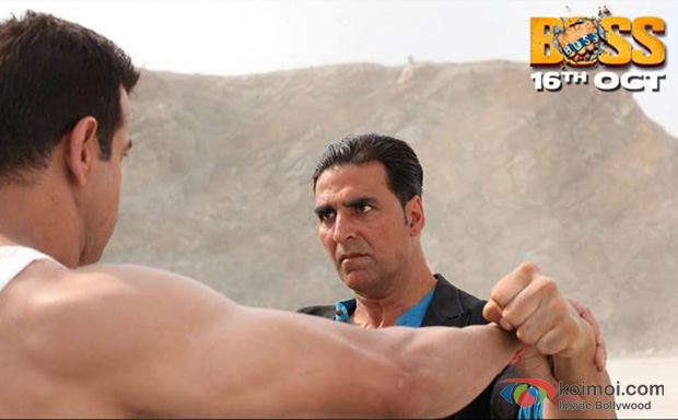 Ronit Roy and Akshay Kumar in a still from Boss