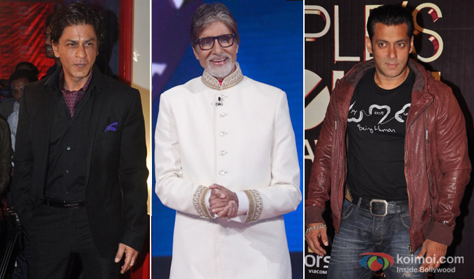 Salman Khan, Amitabh Bachchan and Salman Khan at an event