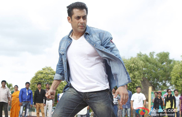 Salman Khan in a still from Jai Ho