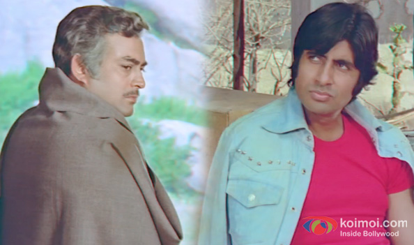 Sanjeev Kumar and Amitabh Bachchan in a still from Sholay 3D