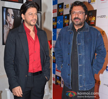 Shah Rukh Khan and Sanjay Leela Bhansali at an event