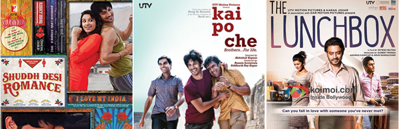 Shuddh Desi Romance, Kai Po Che! and The Lunchbox Movie Poster